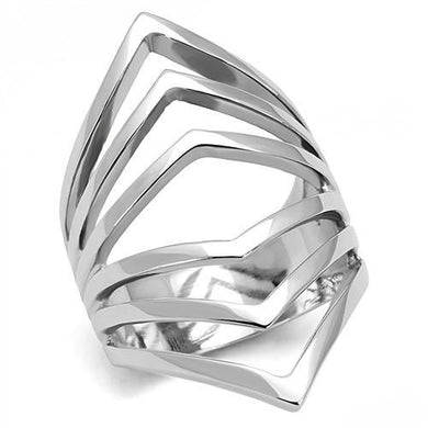 TK3144 - High polished (no plating) Stainless Steel Ring with No Stone
