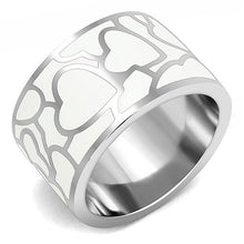 Load image into Gallery viewer, TK3172 - High polished (no plating) Stainless Steel Ring with Epoxy  in White