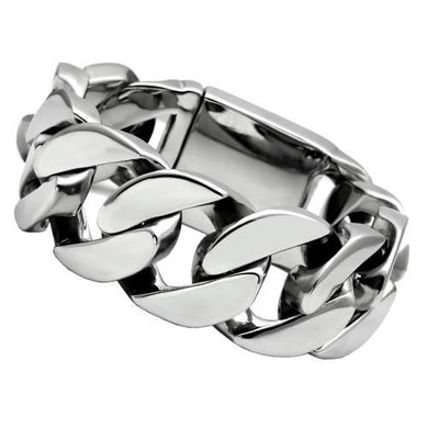 TK338 - High polished (no plating) Stainless Steel Bracelet with No Stone