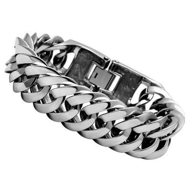 TK340 - High polished (no plating) Stainless Steel Bracelet with No Stone