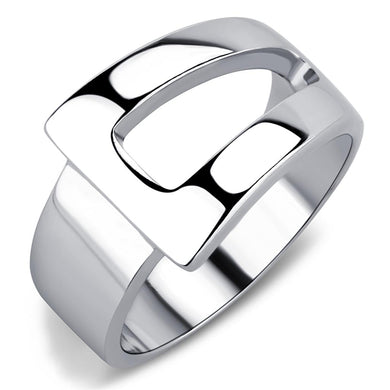 TK3438 - High polished (no plating) Stainless Steel Ring with No Stone