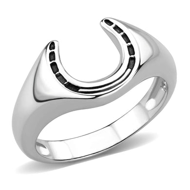 TK3619 - High polished (no plating) Stainless Steel Ring with No Stone