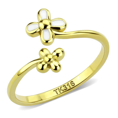 TK3631 - IP Gold(Ion Plating) Stainless Steel Ring with No Stone
