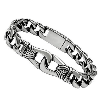 TK435 - High polished (no plating) Stainless Steel Bracelet with No Stone