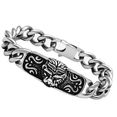 TK436 - High polished (no plating) Stainless Steel Bracelet with No Stone
