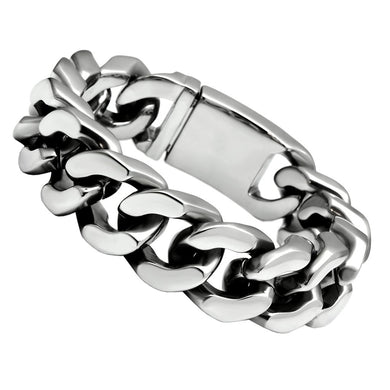TK442 - High polished (no plating) Stainless Steel Bracelet with No Stone