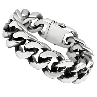 TK445 - High polished (no plating) Stainless Steel Bracelet with No Stone