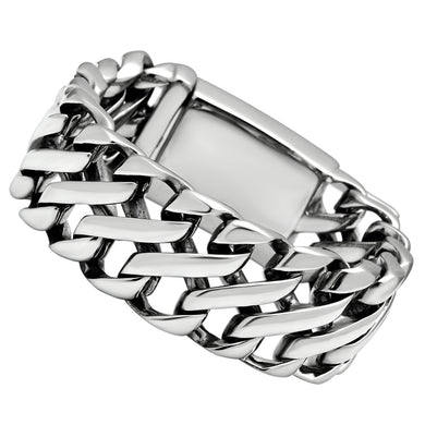 TK447 - High polished (no plating) Stainless Steel Bracelet with No Stone