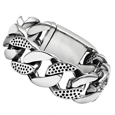 TK448 - High polished (no plating) Stainless Steel Bracelet with No Stone