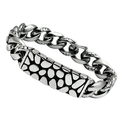TK449 - High polished (no plating) Stainless Steel Bracelet with No Stone