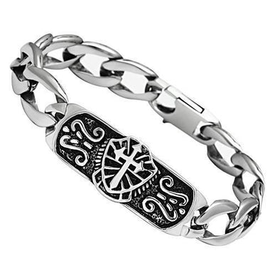 TK452 - High polished (no plating) Stainless Steel Bracelet with No Stone