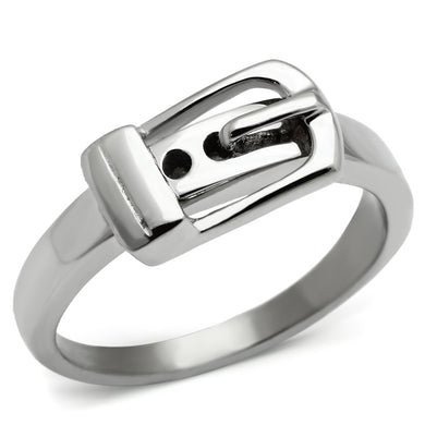 TK472 - High polished (no plating) Stainless Steel Ring with No Stone