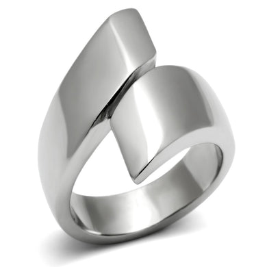 TK516 - High polished (no plating) Stainless Steel Ring with No Stone
