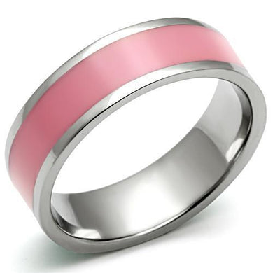 TK545 - High polished (no plating) Stainless Steel Ring with Epoxy  in Rose