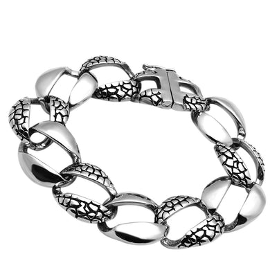 TK565 - High polished (no plating) Stainless Steel Bracelet with No Stone