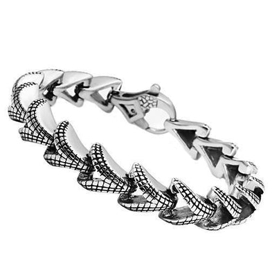 TK571 - High polished (no plating) Stainless Steel Bracelet with No Stone