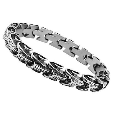 TK575 - High polished (no plating) Stainless Steel Bracelet with No Stone