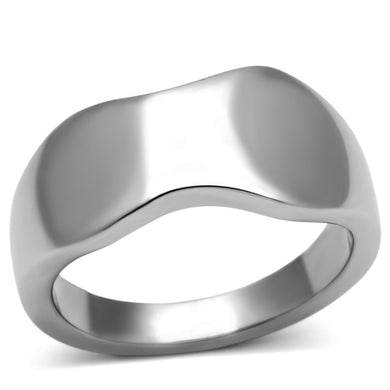 TK618 - High polished (no plating) Stainless Steel Ring with No Stone