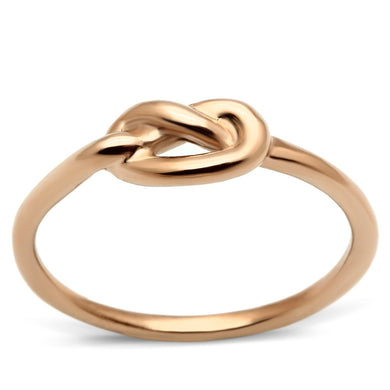 TK630R - IP Rose Gold(Ion Plating) Stainless Steel Ring with No Stone