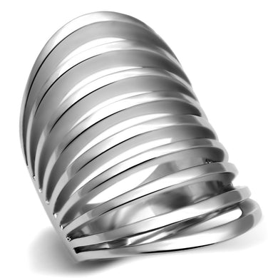 TK665 - High polished (no plating) Stainless Steel Ring with No Stone