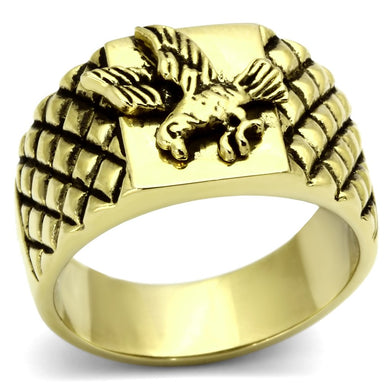 TK773 - IP Gold(Ion Plating) Stainless Steel Ring with No Stone