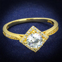Load image into Gallery viewer, TS500 - Gold 925 Sterling Silver Ring with AAA Grade CZ  in Clear