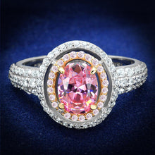 Load image into Gallery viewer, TS543 - Rose Gold + Rhodium 925 Sterling Silver Ring with AAA Grade CZ  in Rose
