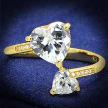 Load image into Gallery viewer, TS555 - Gold 925 Sterling Silver Ring with AAA Grade CZ  in Clear