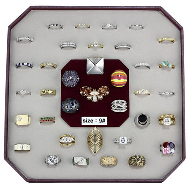 VK-002-SIZE9 - Assorted Brass Ring with Assorted  in Assorted