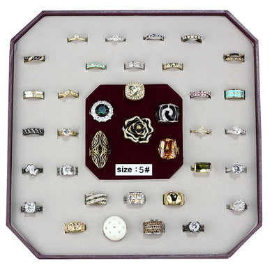 VK-003-SIZE5 - Assorted Brass Ring with Assorted  in Assorted