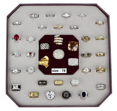 VK-004-SIZE7 - Assorted Brass Ring with Assorted  in Assorted
