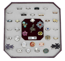 Load image into Gallery viewer, VK-004-SIZE8 - Assorted Brass Ring with Assorted  in Assorted