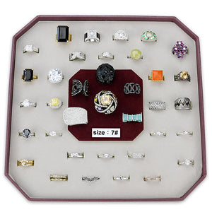 VK-005-SIZE7 - Assorted Brass Ring with Assorted  in Assorted
