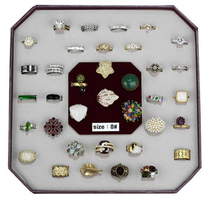 VK-006-SIZE8 - Assorted Brass Ring with Assorted  in Assorted