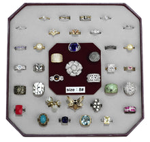 Load image into Gallery viewer, VK-007-SIZE8 - Assorted Brass Ring with Assorted  in Assorted