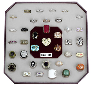 VK-008-SIZE8 - Assorted Brass Ring with Assorted  in Assorted