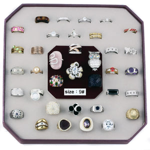 VK-008-SIZE9 - Assorted Brass Ring with Assorted  in Assorted