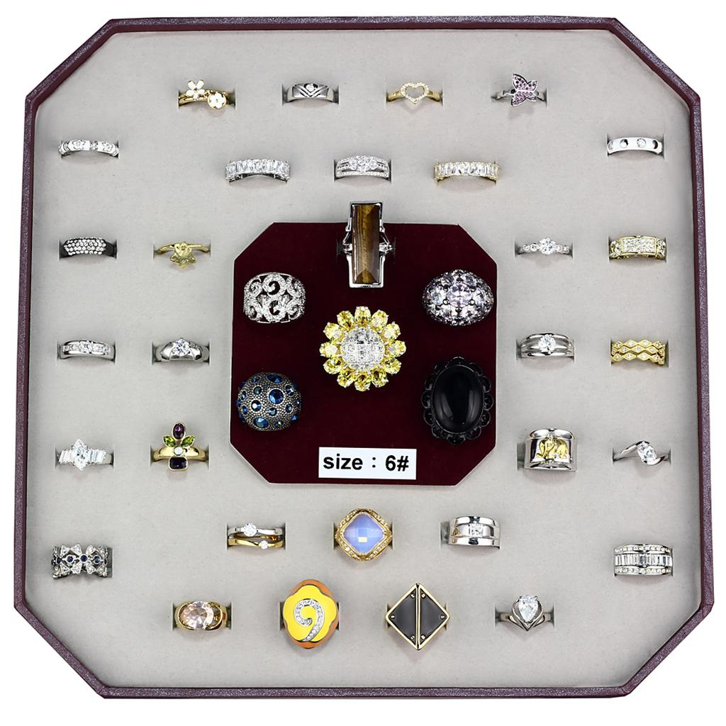 VK-009-SIZE6 - Assorted Brass Ring with Assorted  in Assorted