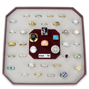 VK-009-SIZE7 - Assorted Brass Ring with Assorted  in Assorted