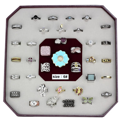 VK-010-SIZE6 - Assorted Brass Ring with Assorted  in Assorted