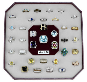 VK-010-SIZE7 - Assorted Brass Ring with Assorted  in Assorted