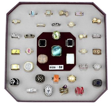 VK-010-SIZE8 - Assorted Brass Ring with Assorted  in Assorted
