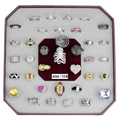 VK-011-SIZE10 - Assorted Brass Ring with Assorted  in Assorted