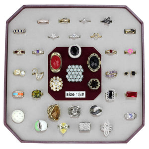 VK-011-SIZE5 - Assorted Brass Ring with Assorted  in Assorted