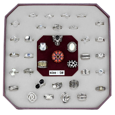 VK-011-SIZE9 - Assorted Brass Ring with Assorted  in Assorted