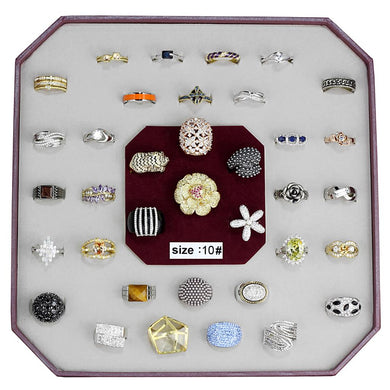 VK-012-SIZE10 - Assorted Brass Ring with Assorted  in Assorted