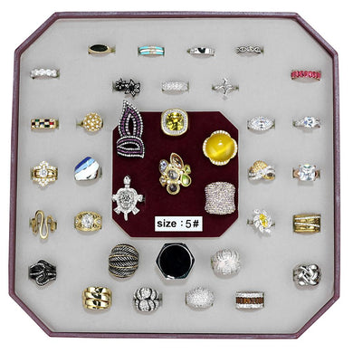 VK-012-SIZE5 - Assorted Brass Ring with Assorted  in Assorted