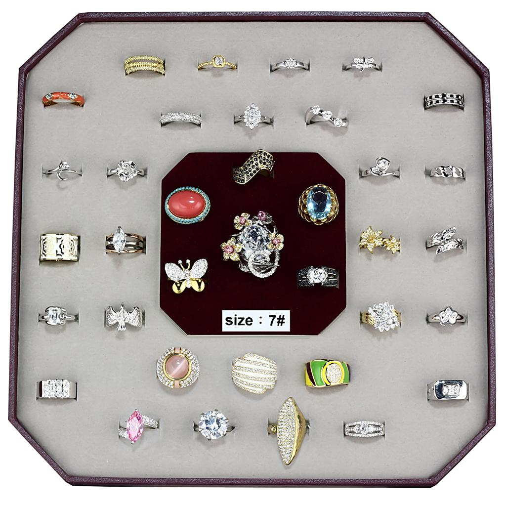 VK-012-SIZE7 - Assorted Brass Ring with Assorted  in Assorted