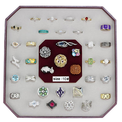 VK-013-SIZE10 - Assorted Brass Ring with Assorted  in Assorted