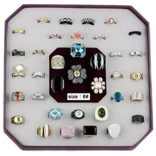 Load image into Gallery viewer, VK-013-SIZE6 - Assorted Brass Ring with Assorted  in Assorted